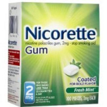 Nicorette Coated Gum, Fresh Mint, 2mg, 100-Count
