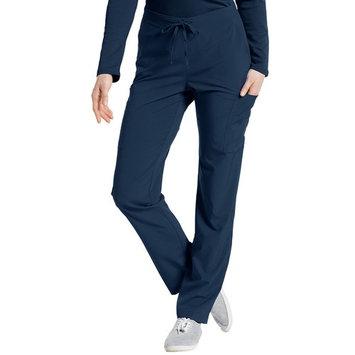 fit by white cross women's 397 drawstring/back elastic waist cargo pant- navy- xx-small petite