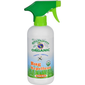 GREENERWAYS ORGANIC Mosquito Insect Repellent, Premium, USDA Organic, DEET-FREE, Natural, Mosquito-Repellant, Bug Spray, Clothing Safe, Baby Safe, Kid Safe, Pet Safe, Family Size Big Repellent