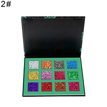 Braceus 12 Colors Shimmer Matte Eye Shadow Palette Powder Women Cosmetic Makeup Tool - 2#