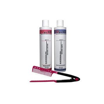 Mai Hair Salt-Free Moisturizing Pomegranate Aromatic Keratin Treatment Hair Shampoo and Conditioner Sulfate-Free Formula, 10oz/300ml (Free Easy Comb)