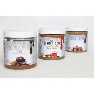 Tigernut butter ALLERGEN FRIENDLY and ALL NATURAL | No nuts, seeds, gluten or soy | AIP and paleo compliant (7.5 oz.) Original, Carob and Honey and Cinnamon Flavors. 3 PACK