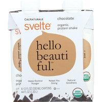 Svelte Protein Shake, Organic, Chocolate, 44 Oz