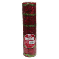 Anhui Ka-land Arts And Crafts Co Ltd HOLIDAY RED/GREEN MESH, 10.5 INCH X 15 FOOT