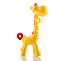 Asani Giraffe Baby Teether Toy | Natural & Organic BPA-Free Silicone | Textured Infant Teething Relief | Freezable and Dishwasher-Safe | Cute Chew Toys for Boys, Girls, Babies, Toddlers, Newborn