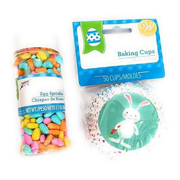 Easter Cupcake Decorating Bundle Easter Sprinkles and Easter Bunny Baking Cups