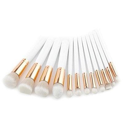 Ecurson 9Pcs Pencil Foundation Eye shadow Makeup Brushes Eyeliner Brush Set--Basic Need For Beginners