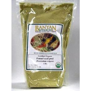 Banyan Botanicals Fennel Seed Powder - USDA Certified Organic, 1 lb - Foeniculum vulgare - Spice & Herbal Supplement for Digestive Comfort …