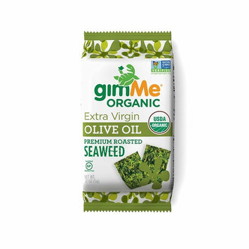 gimMe Snacks Organic Premium Roasted Seaweed, Extra Virgin Olive Oil, 5 gram, 12 Count [Extra Virgin Olive Oil]