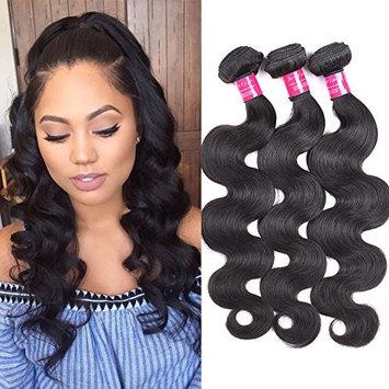 ItsUHair Virgin Brazilian Body Wave 3 Bundles 300g Real Human Hair Extensions Body Weave Hair Natural Black #1B 95-100g/pc (20 22 24 inch)