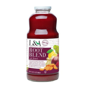 Langer Juice Co. L;A 100% Juice Drink, Root Blend with Turmeric, 32 Fl Oz