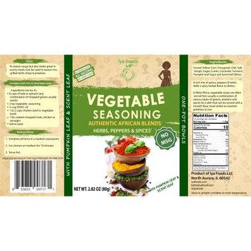 Iya Foods Llc Vegetable Herbal African Seasoning (NO MSG) â 2.82 oz