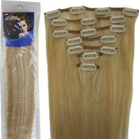 20''7pcs Fashional Clips in Remy Human Hair Extensions 24 Colors for Women Beauty Hot Sale (#27/613-dark blonde mixed with light blonde) by lilu
