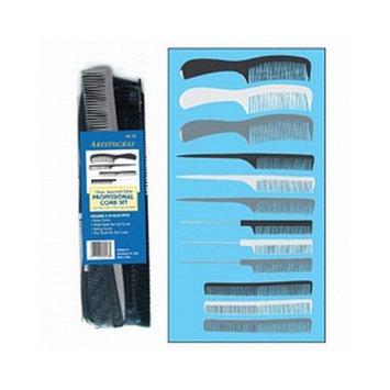 Aristocrat 12 Piece Plastic Comb Set (Pack of 2)