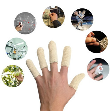 EvridWear Cotton Elastic Blends Finger Toe Cots, Finger Toe Sleeves, Thumb Protector, Fingertips Protective, Hand Eczema, Finger Cracking, Moisture Wicking (20PCS)