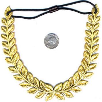 Gold Wreath Headband Leaf Greek Grecian Goddess Ceasar Fashion Costume