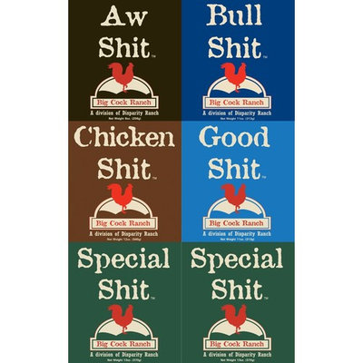 Special Shit Seasoning Sampler 9oz -13oz Container (Pack of 6 with 1 each of Bull, Chicken, Good, AW & 2 Special)
