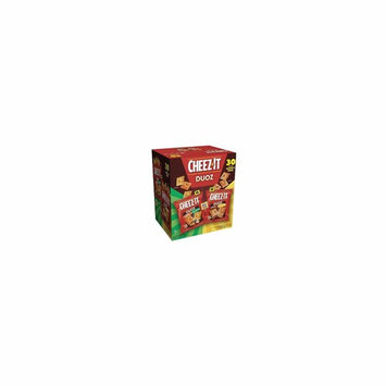 Baked Snack Cheese Crackers,Single Serve, (Duoz, (30 Count)) Cheez-It