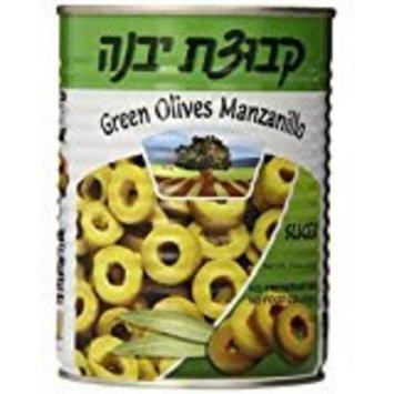 Kvuzat Yavne Green Olives Manzanillo Sliced 19 Oz. Pack Of 6.