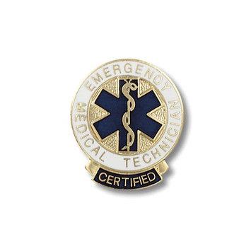 Prestige Medical Emergency Medical Technician Certified Swivel Bar Pin