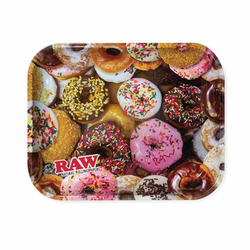 Raw Delicious Doughnuts Metal Rolling Tray - Large 14