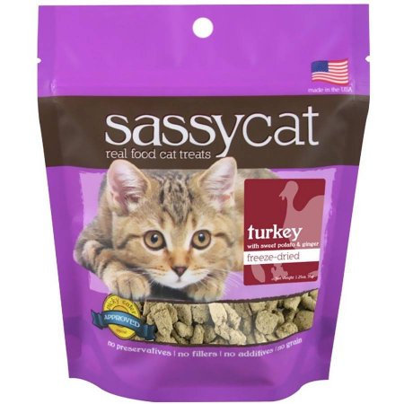 Herbsmith Sassy Cat Freeze Dried Turkey Cat Treats 1.25 oz.