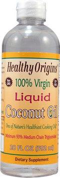 Healthy Origins 100% Virgin Liquid Coconut Oil - 20 fl oz pack of 6