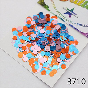 3710 Nail Body Eye Shadow craft Iridescent Glitter Colorful Pink