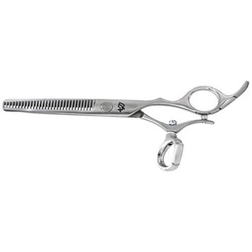 Kissaki Hair Scissors Dukuri Swivel 30 tooth Satin Finished Hair Thinning Shears Barber Scissors