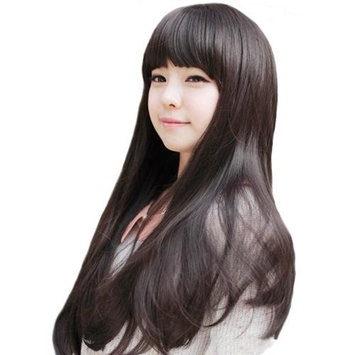 DAYISS New Style Women Girls Sexy Long Curly Fashion Full Human Hair Wig