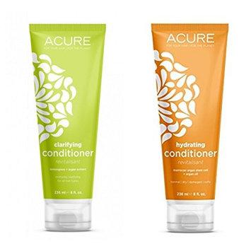 Acure Organics Natural Conditioner Variety Pack Of Lemongrass + Argan Stem Cell & Argan Extract + Argan Oil