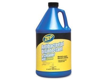 Zep Antibacterial Disinfectant Cleaner With Lemon, 128 Oz.