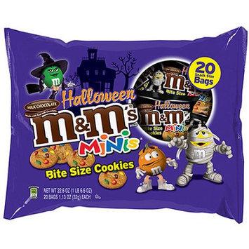 M & M'S Minis Halloween Bite-Size Cookies, 1.13 oz, 20 count