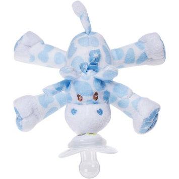 Nookums Blue Giraffe Paci-Plushies Buddies Pacifier Holder
