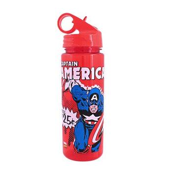 Silver Buffalo, Llc Captain America 25 Cent Comic 20oz. Tritan Water Bottle