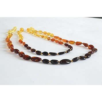 Certified Baltic Amber Teething Mom & Baby set - Rainbow - Anti Flammatory