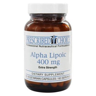 Prescribed Choice - Alpha Lipoic Acid Extra Strength 400 mg. - 60 Vegetarian Capsules