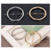 Ship by USPS, ANGELANGELA Minimalist 4Pc Gold Silver Triangle Round Hollow Geometric Metal Hairpin Hair Clip Clamps Accessories Barrettes Bobby Pin Ponytail Holder GIFT Headwear Styling Jewelry