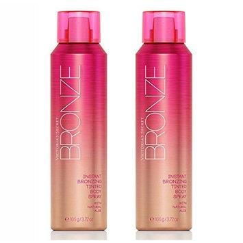 Victoria's Secret Bronze Instant Bronzing Tinted Body Spray Bundle set of 2