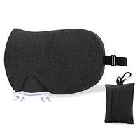 Sleep Mask for Eyes - Comfortable & Adjustable Sleep Eye Mask, Black