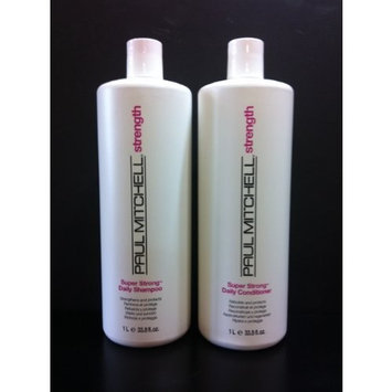 Paul Mitchell Super Strong Daily Shampoo and Conditioner Liter Duo Set 33.8 Oz