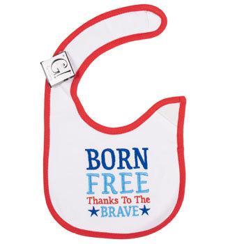 Dollaritemdirect BABY BIB BORN FREE 12.5 X 8 COOTON, Case Pack of 144