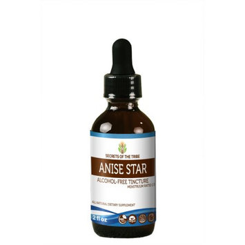 Nevada Pharm Anise Star Tincture Alcohol-FREE Extract, Organic Anise star (Illicium verum) Dried Fruit 2 oz