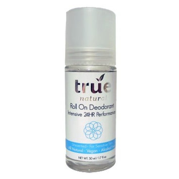 True Natural Intensive 24hr Roll On Deodorant, Unscented, All Natural, Alcohol-Free 50ml/1.7 fl oz