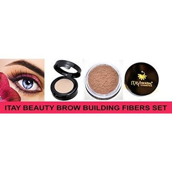 Itay Beauty Brow Building Fibers Set Fibers +Brow Wax Primer (Md Blonde) by Itay Beauty