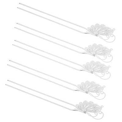 Dovewill 5x Vintage Hair Jewelry Mental Hair Clips Floral Butterfly Shaped Hairpins Q