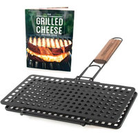 Charcoal Companion Grilled Cheese Basket & Recipe Book Set