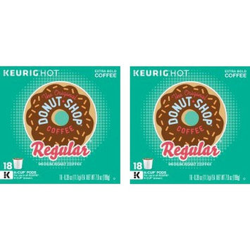 The Original Donut Shop Regular Keurig Single-Serve K-Cup Pods, Medium Roast Coffee, 18 Count - 2 Packs
