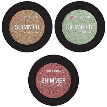 City Color- Shimmer Shadow/ 3 Pack Eyeshadow (Sandstorm, Tidepool, YAS!)