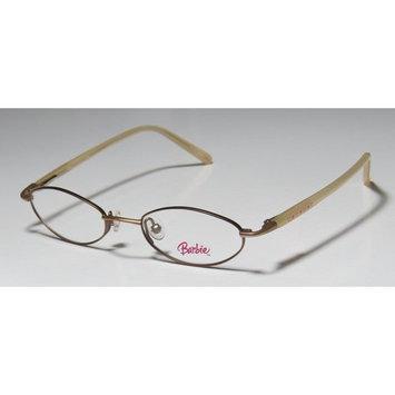 Barbie 326 Childrens/Kids/Girls Designer Full-Rim Gold / Beige Modern Must Have Kids Size Girls Frame Demo Lenses 43-17-120 Flexible Hinges Eyeglasses/Glasses